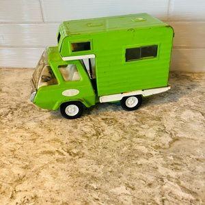 VTG 1960's  Tonka pressed steel green camper toy